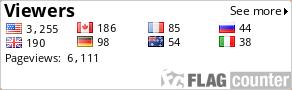 http://s02.flagcounter.com/count/ytBA/bg=FFFFFF/txt=000000/border=CCCCCC/columns=4/maxflags=8/viewers=1/labels=0/pageviews=1/